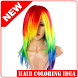 idea of ​​coloring the latest hair