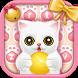 Pink lovely kitten keyboard by Echo Keyboard Theme