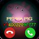 Fake Call Peppa Pig Kids Phone