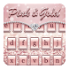 Pink & Gold Keyboard Theme by Keyboard Dreamer