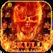 Flaming Fire Skull Typewriter by Ajit Tikone