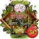 3D New Year Clock 2018 Theme
