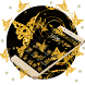 Bright Golden Butterfly Theme by Luxury Mobile Themes