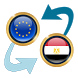 Euro x Egyptian Pound by Currency Converter X Apps