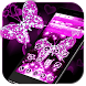 Pink Diamond Butterfly Theme by Launcher Fantasy