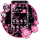 Pink Black Flowers Theme by Best Cool Theme Dreamer