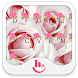 Pink Love Rose Keyboard Theme by TouchPal HK