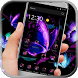 Neon Purple Butterfly by HD wallpaper and theme