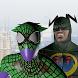 Spider hero vs Bat hero. Duel by Talisman game