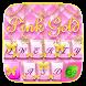 PinkGold GO Keyboard Theme by GOMO Dev Team