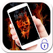 Flame skull ghastly burn theme by cool theme designer
