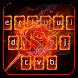 Flame Rose Keyboard Theme by Keyboard Dreamer