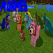 Colorful Mutant Wolves mod for MCPE by Morri Games