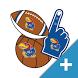 Kansas JayHawks PLUS Selfie Stickers by 2Thumbz, Inc