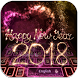 Happy New Year 2018 Keyboard by Keyboard Design Paradise