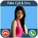 GirlFriend Fake Call And Sms by OMRUP INFOTECH
