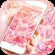 Pink Rose Diamond Theme Wallpaper by fancy themes