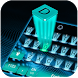 Neon hologram keyboard by Super Keyboard Theme