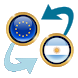 Euro x Argentine Peso by Currency Converter X Apps