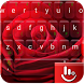 Red Velentine Rose Keyboard Theme by Love Free Themes