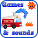 Fire Truck Games For Kids Free by Chaulky Town Apps