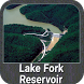 Lake Fork Texas gps fish chart by FLYTOMAP INC