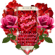 Red Rose Petals Romantic Keyboard Theme by Keyboard Theme Artist (Smart Keyboard Theme 2017)