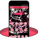 Pink Shiny and Diamond Heart Glitter Theme by Best theme for Android