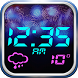 Fireworks Weather Clock Widget by Cute Princess Apps