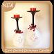 Cute Smiling Snowman Candleholder by Triangulum Studio