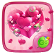Pink Hearts GO Keyboard Theme by Keyboard Fashion New