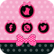 Pink cute girl bow theme love by Super Cool Theme Studio
