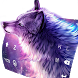 Starry Wolf Delicate Keyboard Theme by Kika Theme Studio