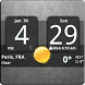 Sense Analog Clock Widget Dark by Factory Widgets