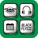 BLACK FLYS-Cool Icon & WP by NOS Inc.