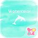 Dolphin Wallpaper-Watercolor- by +HOME by Ateam