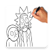 Learn To Draw Rick and Morty by Make Apps