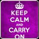 Keep Calm Live Wallpapers by waleedyousaf