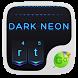 Dark Neon GO Keyboard Theme by Theme2016