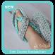 Cute Crochet Sandals from Rubber Flip Flops