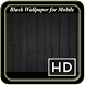 Black Wallpaper for Mobile by YeGe Studio