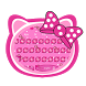 Cute Pink Kitty Keyboard by Luxury Keyboard Theme