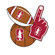 Stanford Cardinals Selfie Stickers by 2Thumbz, Inc