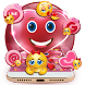 Salmon Pink Cute Emoji Theme by stylish android themes
