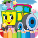 Car Drawing Coloring Book by KEM DEV GAME