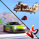 Falling Car Vs Driving Car - Xtreme Drag Race