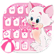 Cute Kitty Keyboard Theme by cool wallpaper