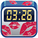 Kisses Digital Clock Widget by Cuteness Inc.