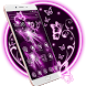Neon Purple Butterfly Theme by Launcher Fantasy