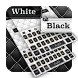 Black white leather keyboard by Echo Keyboard Theme